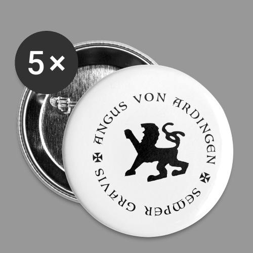 angus von ardingen semper gravis - Buttons klein 25 mm (5er Pack)