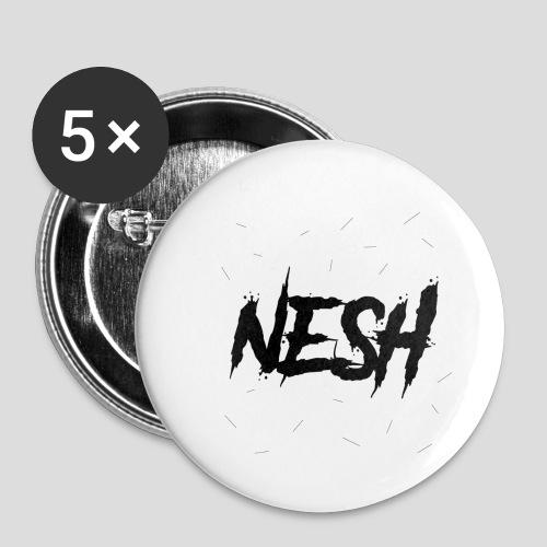 Nesh Logo - Buttons klein 25 mm (5er Pack)
