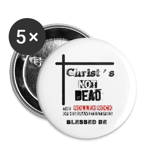 Christ's Not Dead - Lot de 5 petits badges (25 mm)