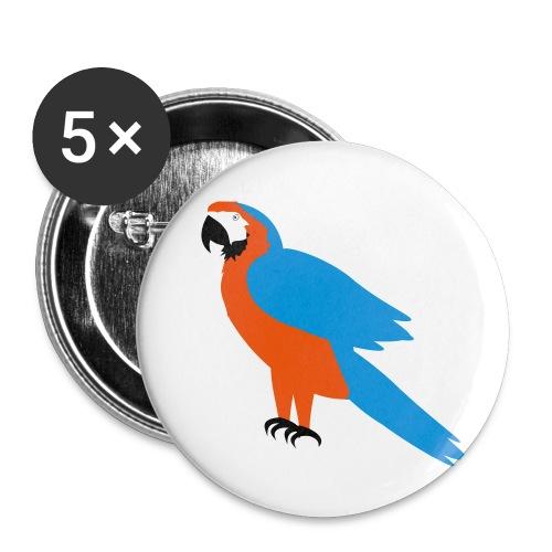 Parrot - Confezione da 5 spille piccole (25 mm)