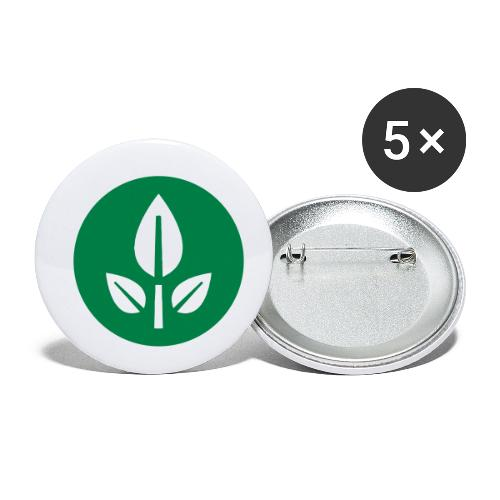 EVE Flower Plant Symbol - Buttons small 1''/25 mm (5-pack)