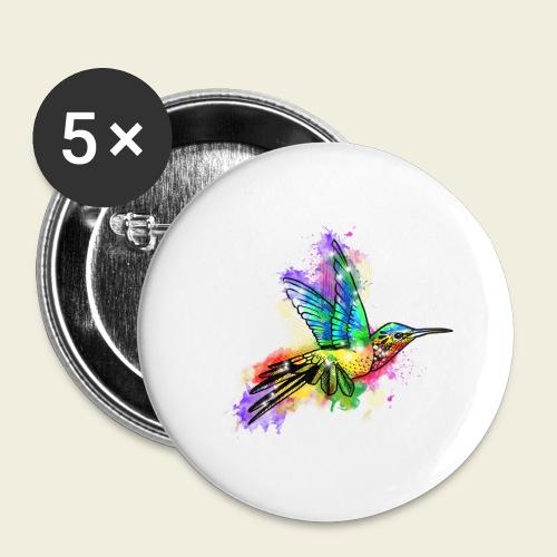 Farbexplosion Kolibri - Buttons klein 25 mm