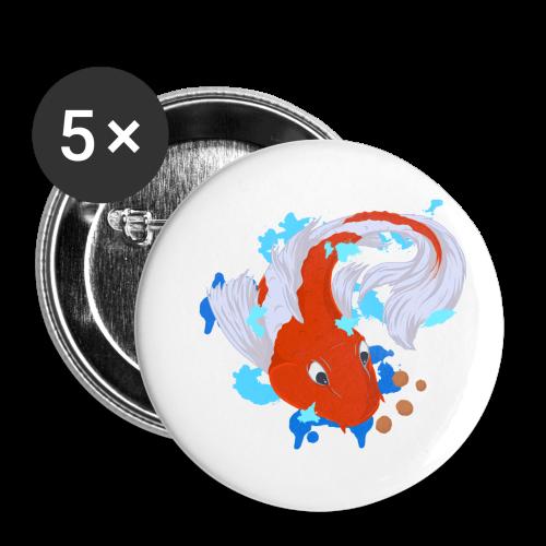 Carpa Koi - Confezione da 5 spille piccole (25 mm)