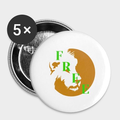 Free - Buttons small 1''/25 mm (5-pack)
