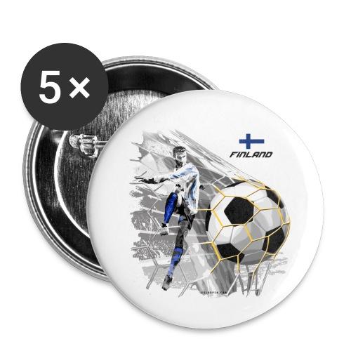 GP22F-05 FINLAND FOOTBALL PRODUCTS - Tuotteet - Rintamerkit pienet 25 mm