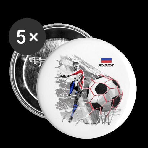 GP22F-04 RUSSIAN FOOTBALL TEXTILES AND GIFTS - Rintamerkit pienet 25 mm (5kpl pakkauksessa)