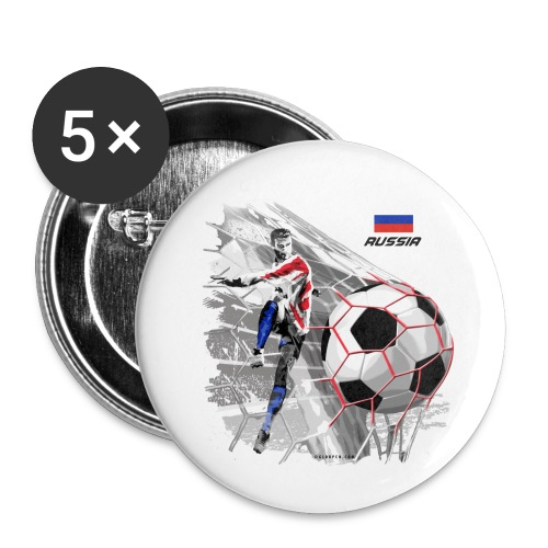 GP22F-04 RUSSIAN FOOTBALL TEXTILES AND GIFTS - Rintamerkit pienet 25 mm
