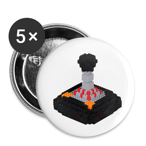 8 piece trip Tac 2 Joystick - Buttons small 1''/25 mm (5-pack)