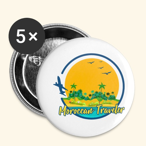 Moroccan Traveler - Lot de 5 petits badges (25 mm)