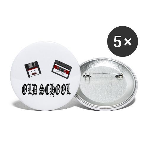 Old School Design - Buttons klein 25 mm (5er Pack)