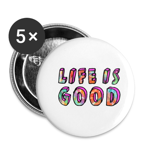 LifeIsGood - Buttons small 1''/25 mm (5-pack)