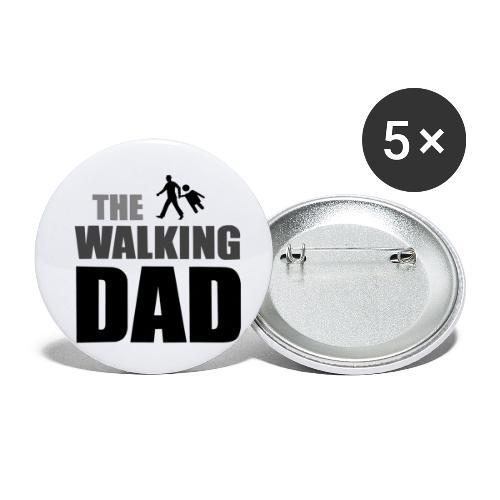 the walking dad auf dem Weg in die lustige Bar - Buttons klein 25 mm (5er Pack)