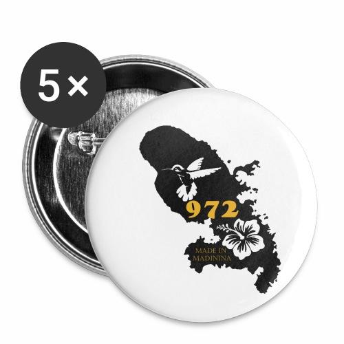 972 MADININA - Lot de 5 petits badges (25 mm)