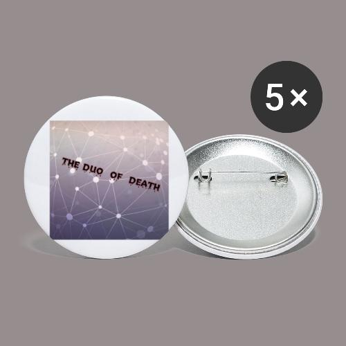 The duo of death logo - Buttons klein 25 mm (5-pack)