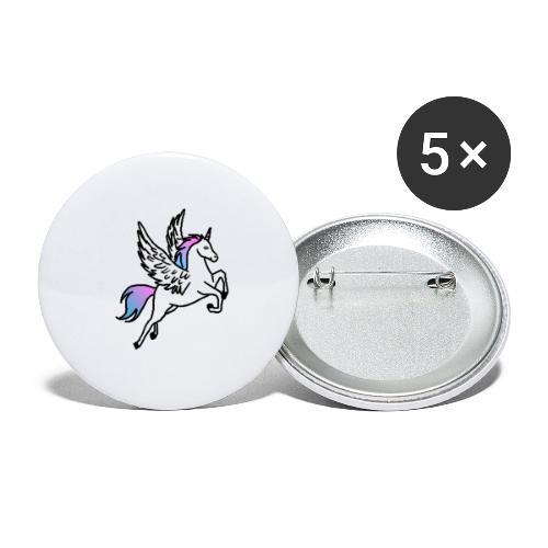Fliegendes Einhorn - Buttons klein 25 mm (5er Pack)