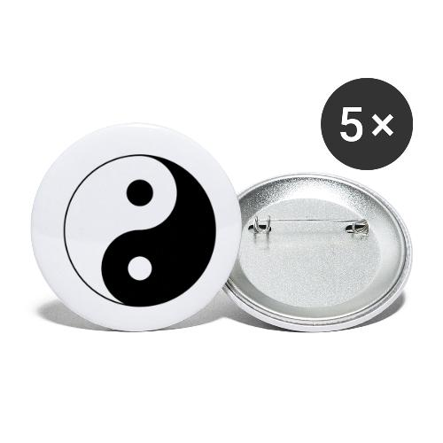 Yin Yang balance in life - Buttons small 1''/25 mm (5-pack)