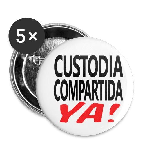 Custodia Compartida YA Negro - Paquete de 5 chapas pequeñas (25 mm)
