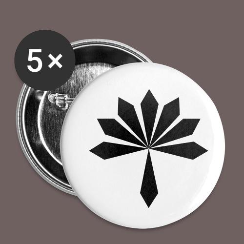GBIGBO zjebeezjeboo - Rock - Fleur [FlexPrint] - Lot de 5 petits badges (25 mm)