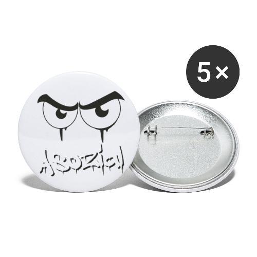 Asozial - Buttons klein 25 mm (5er Pack)