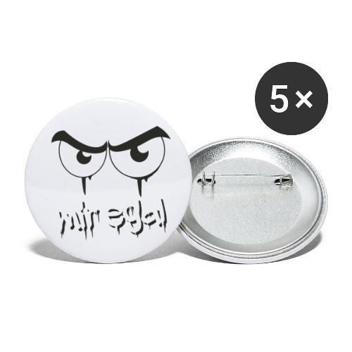 Mir egal - Buttons klein 25 mm (5er Pack)