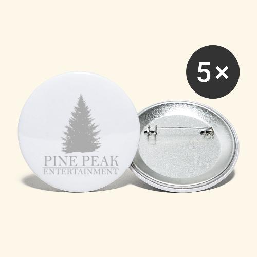 Pine Peak Entertainment Grey - Buttons klein 25 mm (5-pack)