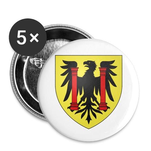 Blason Besançon - Lot de 5 petits badges (25 mm)