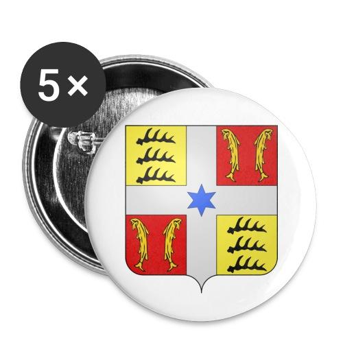 Blason Montbéliard - Lot de 5 petits badges (25 mm)