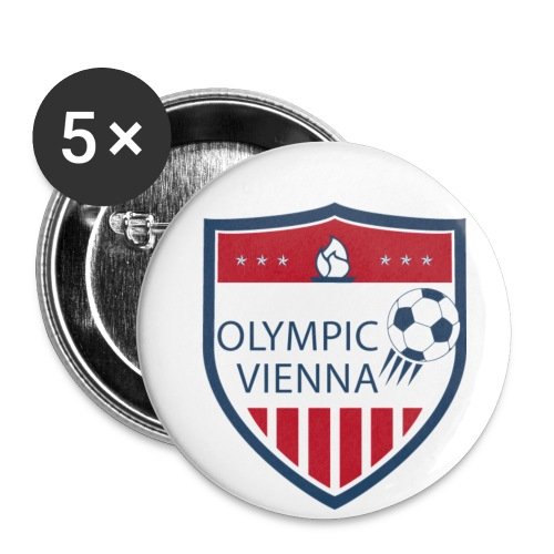 logo olympic - Buttons klein 25 mm (5er Pack)