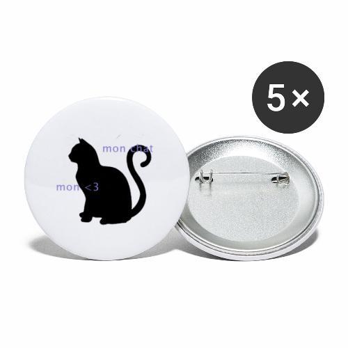 Mon Chat Mon <3 - Lot de 5 petits badges (25 mm)