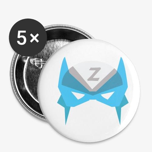MASK 3 SUPER HERO - Lot de 5 petits badges (25 mm)