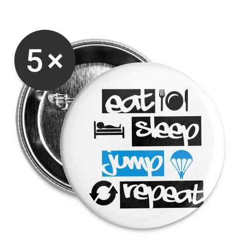 Eat Sleep Jump Repeat - Buttons klein 25 mm