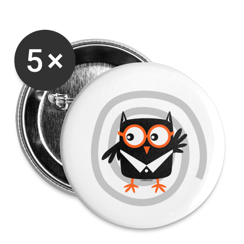 FP10-55 SUIT OWL - TEXTILE AND GIFT PRODUCTS - Rintamerkit pienet 25 mm (5kpl pakkauksessa)