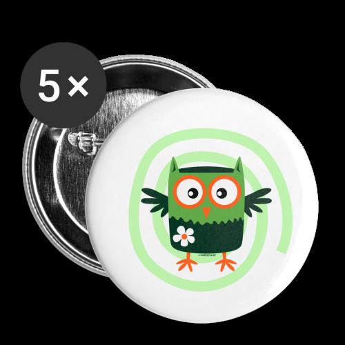FP10-56 FLOWER OWL - TEXTILE AND GIFT PRODUCTS - Rintamerkit pienet 25 mm (5kpl pakkauksessa)