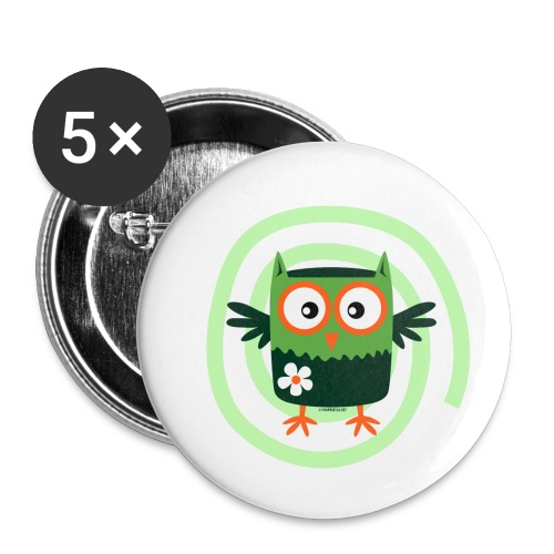 FP10-56 FLOWER OWL - TEXTILE AND GIFT PRODUCTS - Rintamerkit pienet 25 mm