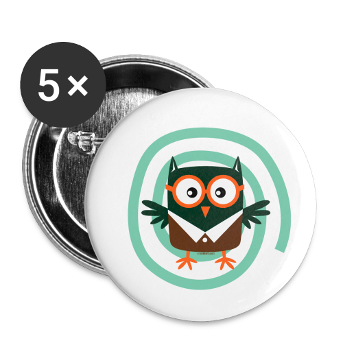 FP10-54 SCHOOL OWL - TEXTILE AND GIFT PRODUCTS - Rintamerkit pienet 25 mm (5kpl pakkauksessa)