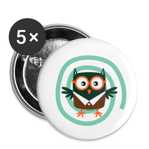 FP10-54 SCHOOL OWL - TEXTILE AND GIFT PRODUCTS - Rintamerkit pienet 25 mm