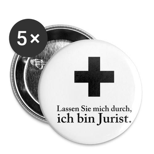 nofalljurist - Buttons klein 25 mm (5er Pack)