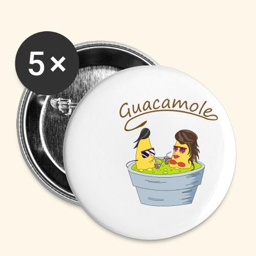Guacamole - Paquete de 5 chapas pequeñas (25 mm)