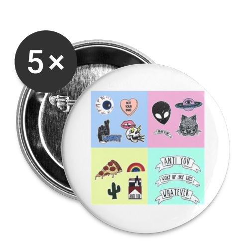 patche - Lot de 5 petits badges (25 mm)