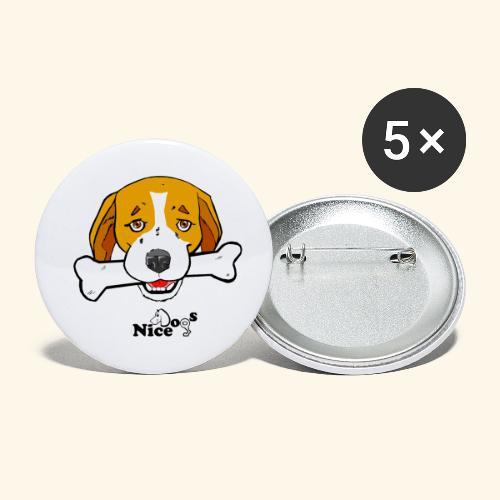 Nice Dogs Semolino - Confezione da 5 spille piccole (25 mm)