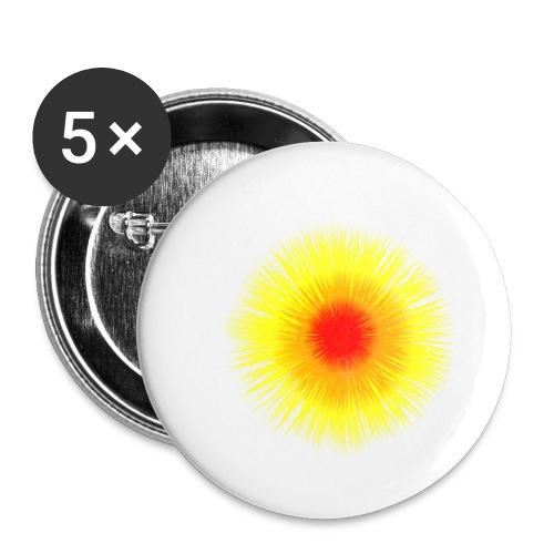 Sonne I - Buttons klein 25 mm (5er Pack)