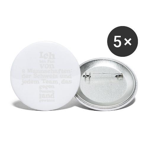 Fan von zwei Mannschaften - Buttons klein 25 mm (5er Pack)