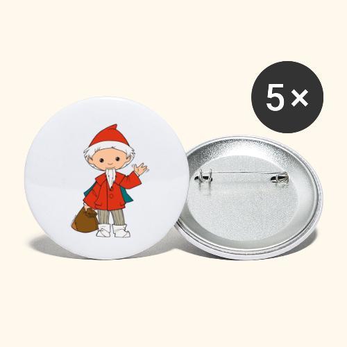 Sandmännchen winkt - Buttons klein 25 mm (5er Pack)