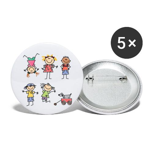 Kids - Buttons klein 25 mm (5er Pack)