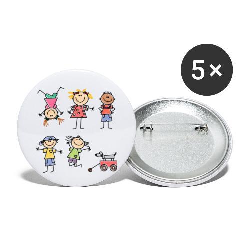 Kids - Buttons klein 25 mm (5er Pack)