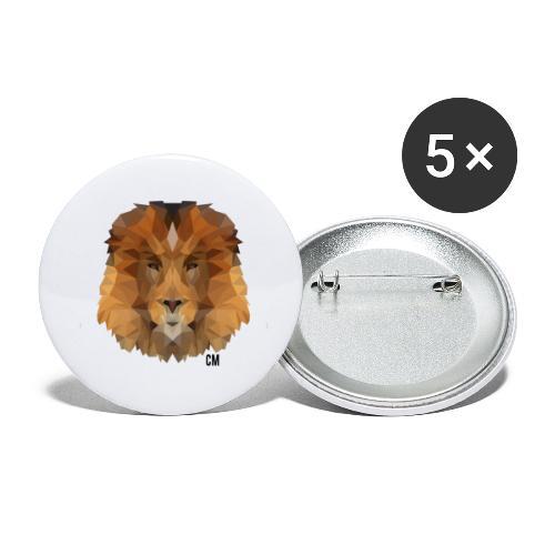 CM Lion - Buttons klein 25 mm (5er Pack)