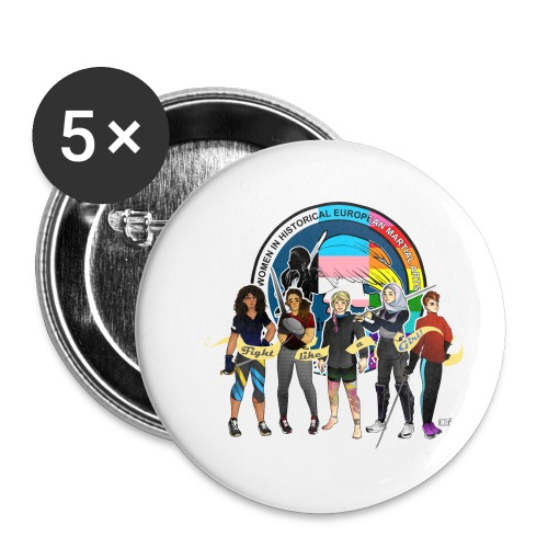 HEMAWomen2 - Buttons small 1''/25 mm (5-pack)