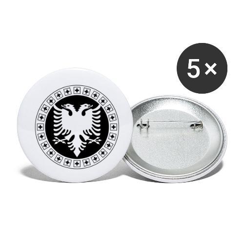 Albanien Schweiz Shirt - Buttons klein 25 mm (5er Pack)