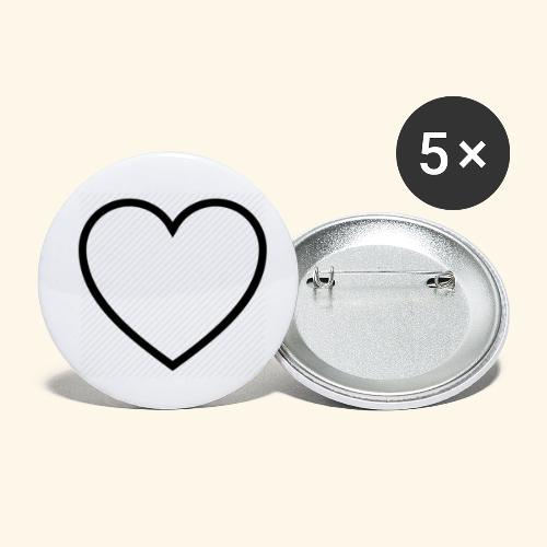 heart 512 - Buttons/Badges lille, 25 mm (5-pack)