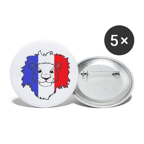 Lion France - Lot de 5 petits badges (25 mm)